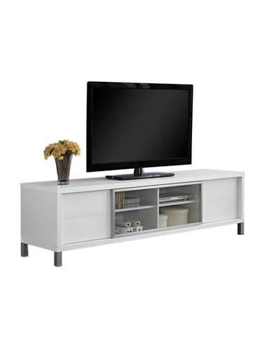 Monarch 70-Inch Euro Style Sliding Door TV Stand-WHITE-One Size