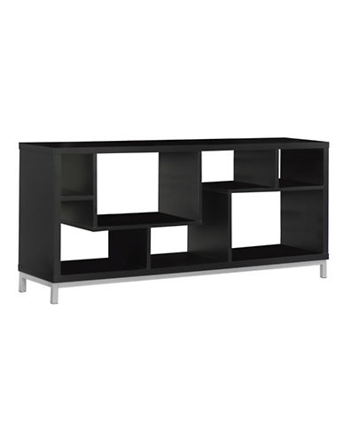 Monarch Asymmetrical TV Stand-BROWN-One Size