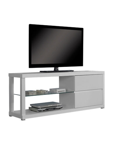 Monarch Two-Drawer TV Stand-WHITE-One Size