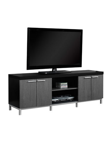 Monarch Two-Tone TV Stand-BLACK-One Size