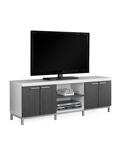 Monarch Two-Tone TV Stand-WHITE-One Size