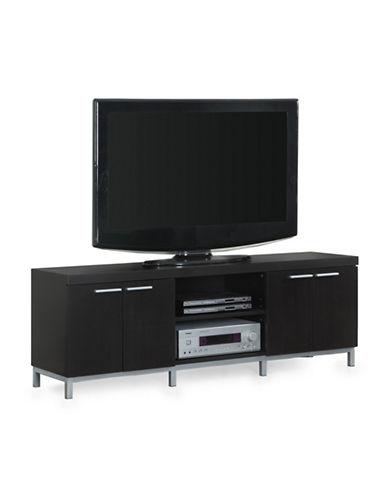 Monarch Double-Door TV Stand-BROWN-One Size