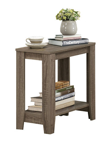 Monarch Wood-Look Accent Table with Shelf-TAUPE-One Size