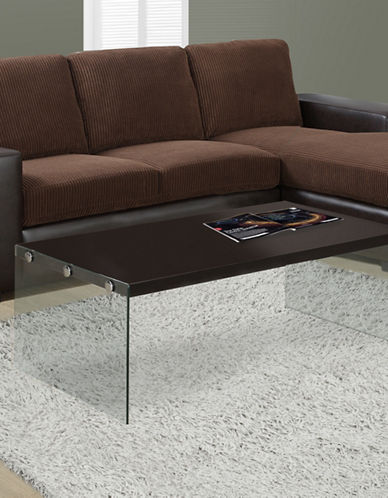 Monarch Tempered Glass Coffee Table-CAPPUCCINO-One Size
