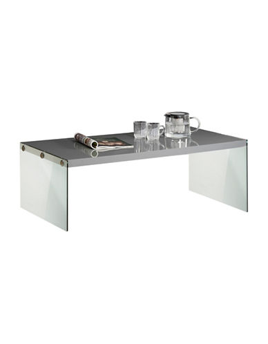 Monarch Tempered Glass Coffee Table-GREY-One Size