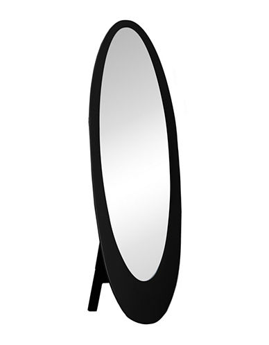 Monarch Contemporary Oval Frame Mirror-BLACK-One Size