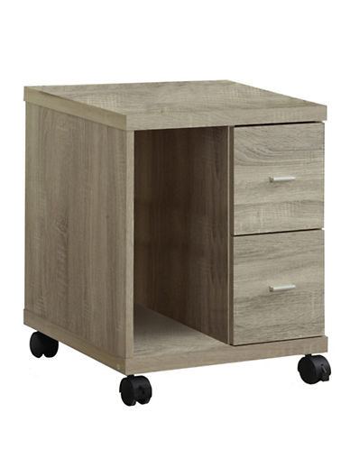 Monarch Office Cabinet on Castors-NATURAL-One Size