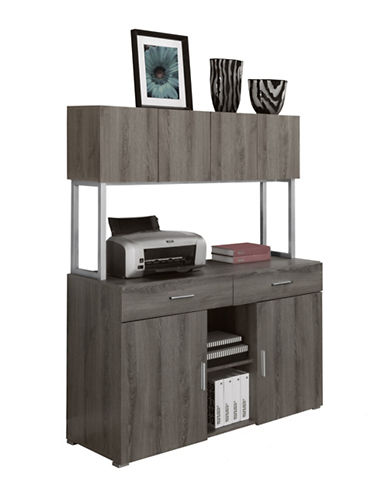 Monarch Office Cabinet Credenza-BROWN-One Size