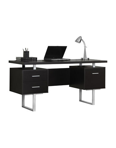 Monarch Floating Top Computer Desk-CAPPUCINO-One Size