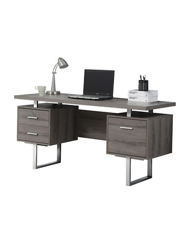 Monarch Floating Top Computer Desk-DARK TAUPE-One Size