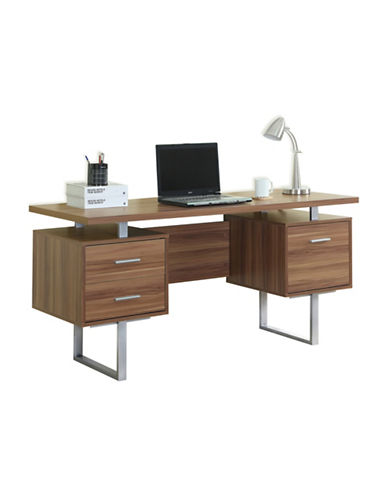 Monarch Floating Top Computer Desk-WALNUT-One Size