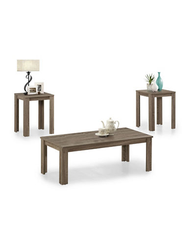 Monarch Three-Piece Coffee and End Tables Set-DARK TAUPE-One Size