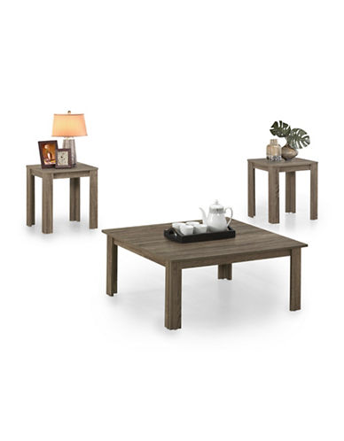 Monarch Three-Piece Square Coffee and End Tables Set-TAUPE-One Size