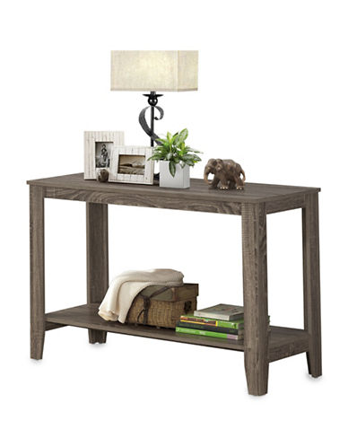 Monarch Rectangular Open-Concept Console Table-TAUPE-One Size