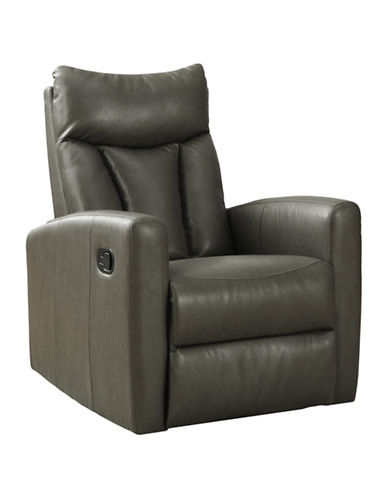 Monarch Padded Back Swivel Glider Recliner Chair-CHARCOAL-One Size