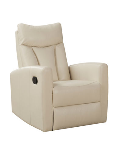 Monarch Padded Back Swivel Glider Recliner Chair-IVORY-One Size