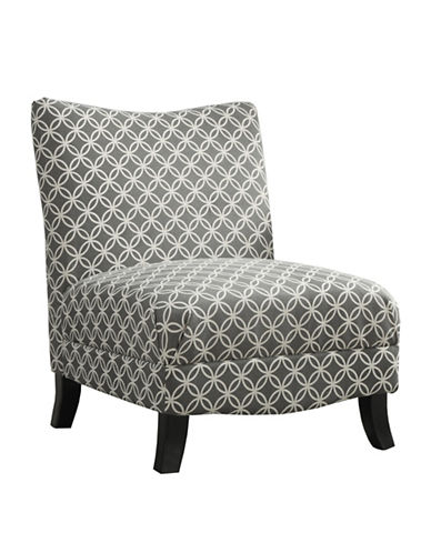 Monarch Circular Plush Accent Chair-GREY-One Size