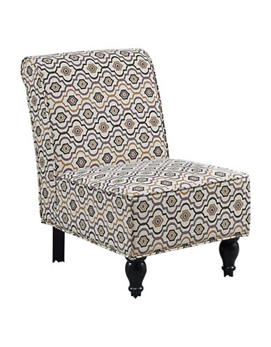Monarch Interlock Print Accent Chair-NATURAL-One Size