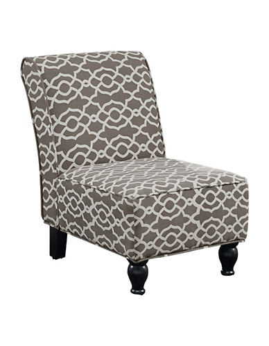 Monarch Bell Print Accent Chair-BROWN-One Size