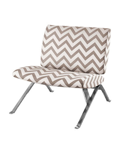 Monarch Chevron Print Accent Chair-BROWN-One Size