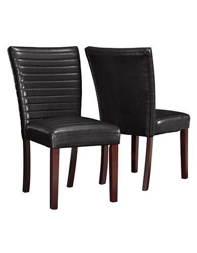 Monarch Two-Piece Quilted Dining Chair Set-BROWN-One Size