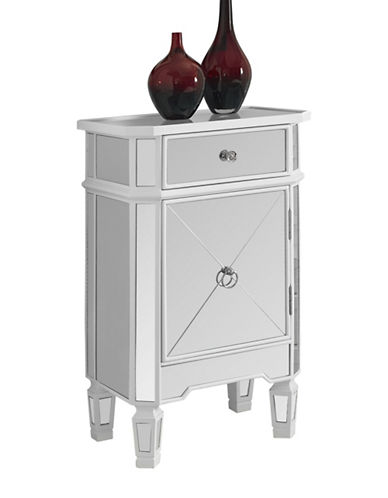 Monarch Mirrored Accent Table-SILVER-One Size