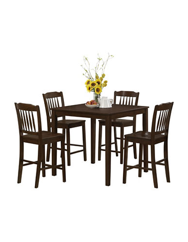 Monarch Cappuccino Five-Piece Dining Set-CAPPUCCINO-One Size