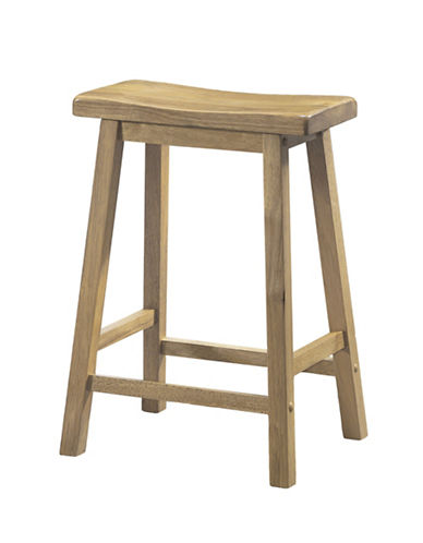 Monarch 24 Inch Saddle Seat Barstools Set of Two-WOOD-One Size