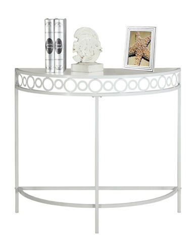 Monarch 36-Inch Accent Table-WHITE-One Size