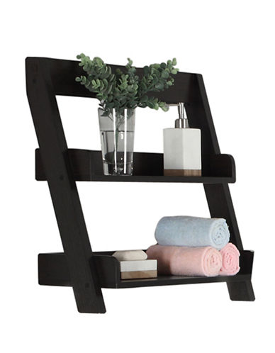 Monarch Two-Tier Slanted Wall Mount Shelf-CAPPUCCINO-One Size