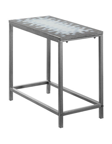 Monarch Tile-Top Accent Table-GREY-One Size