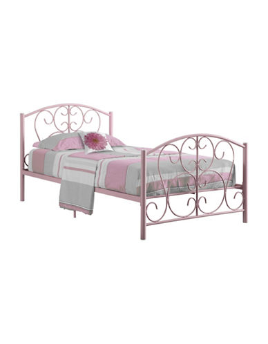 Monarch Twin Filigree Bed Frame-PINK-Twin