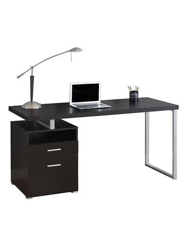 Monarch Floating Desktop Desk-BROWN-One Size