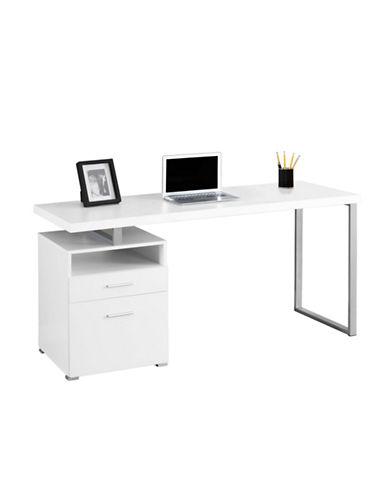 Monarch Floating Desktop Desk-WHITE-One Size