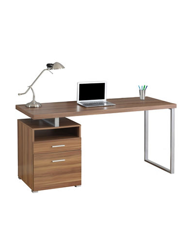 Monarch Floating Desktop Desk-WALNUT-One Size