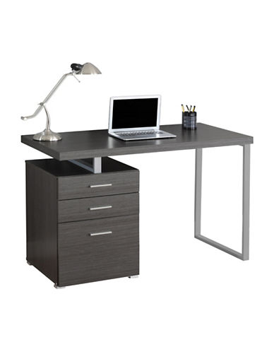 Monarch Floating Top Computer Desk-GREY-One Size