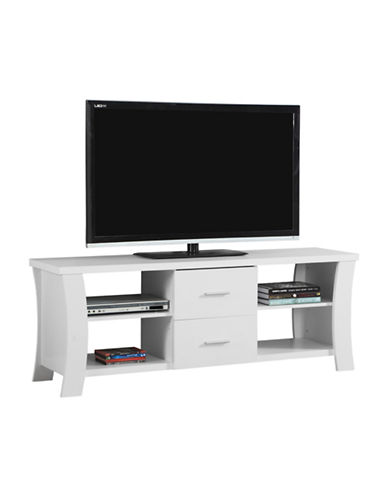Monarch Modern TV Stand-WHITE-One Size