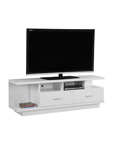 Monarch TV Stand with Drawers and Shelves-WHITE-One Size