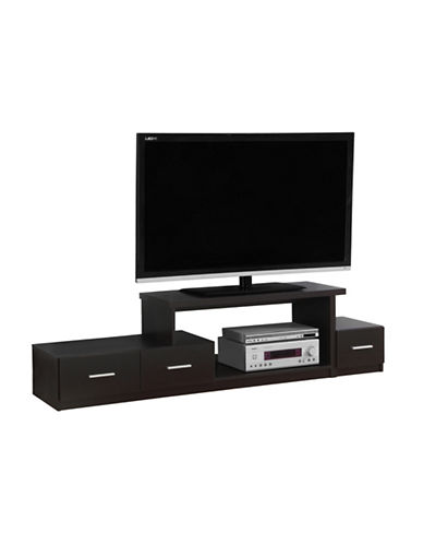 Monarch Asymmetrical TV Stand-CAPPUCCINO-One Size