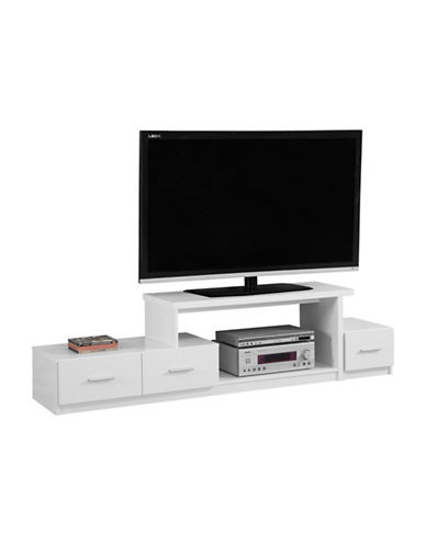 Monarch Asymmetrical TV Stand-WHITE-One Size