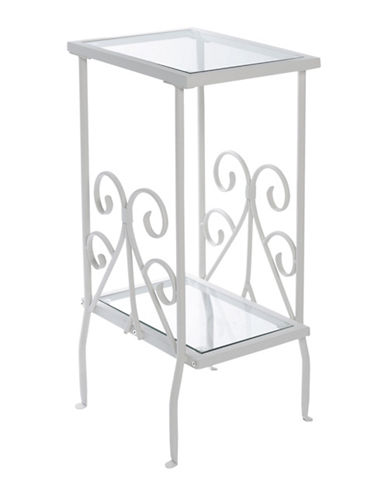 Monarch Scroll Side Table-WHITE-One Size