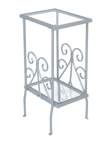 Monarch Scroll Side Table-SILVER-One Size