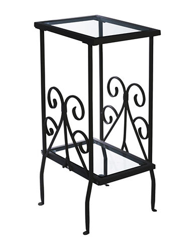 Monarch Scroll Side Table-BLACK-One Size