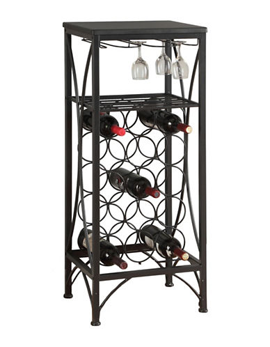 Monarch Metal Home Bar-BLACK-One Size