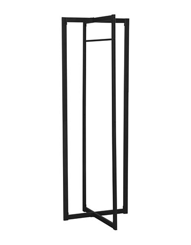 Monarch Rectangular Coat Rack-BLACK-One Size