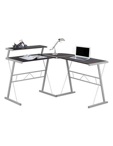 Monarch Three-Piece L-Shaped Desk Set-CAPPUCCINO-One Size