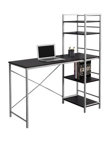 Monarch Four-Shelf Computer Desk-CAPPUCCINO-One Size