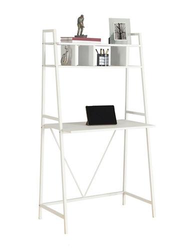 Monarch Computer Desk-WHITE-One Size