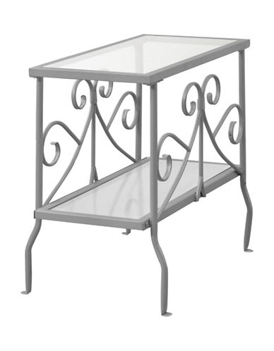 Monarch Scroll Accent Table-SILVER-One Size