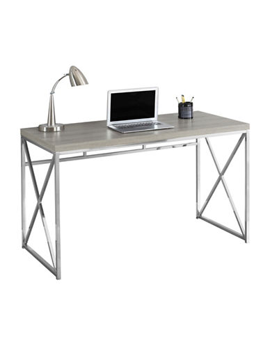 Monarch Crisscross Computer Desk-DARK TAUPE-One Size